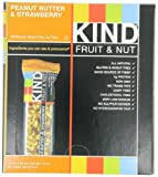KIND Fruit & Nut, Peanut Butter & Strawberry, Gluten Free Bars (Pack of 12)