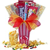 Art of Appreciation Gift Baskets   Concession Stand Popcorn and Candy Set image
