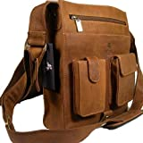 Visconti Big Leather Organizer Messenger Bag 18410 in Distressed Leather (Oil Tan)