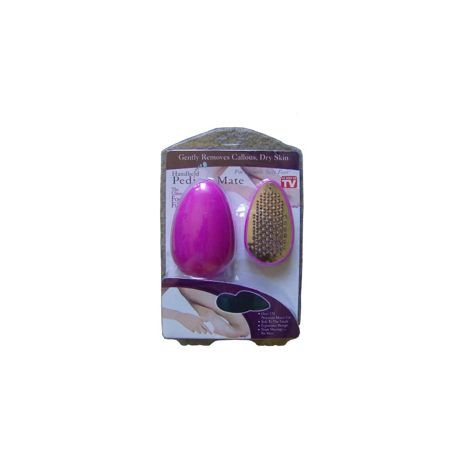 Pink Handheld Pedi & Mate Ped Egg Ultimate Foot File, Callous Remover