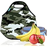 Lunch Tote, OFEILY Lunch Boxes Lunch Bags With Fine Neoprene Material Waterproof Picnic Lunch Bag Mom Bag (Disruptive...