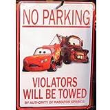 Disney Cars No Parking Wall Plaque