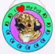 Pug Suncatcher
