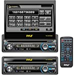 Pyle PLTS78DUB 7-Inch In-Dash Detachable Motorized Touchscreen TFT/LCD Monitor with DVD/CD/MP3/MP4/USB/SD/AM-FM Bluetooth Receiver by Pyle