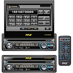 Pyle PLTS78DUB 7-Inch In-Dash Detachable Motorized Touchscreen TFT/LCD Monitor with DVD/CD/MP3/MP4/USB/SD/AM-FM Bluetooth Receiver from Pyle