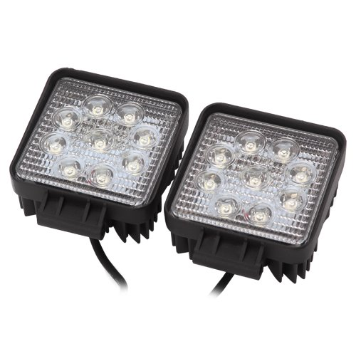 Rupse 2x 27W Square LED Work Light Lamp Off Road High Power ATV Jeep 4x4 Tractor Truck (30 Degree)Spot Light