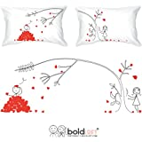 BOLDLOFT® Love You Madly His & Hers Couple Pillowcases-Matching Couple Gifts,His and Hers Gifts,Valentines Gifts for Him,Valentines Day Gifts for Boyfriend,Romantic Anniversary Gifts for Couple