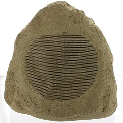 """Theater Solutions 12R6S Outdoor 6.5"""" Sandstone Rock Speakers 12 Piece Set 4800 Watts with Wire 12R6SW"""