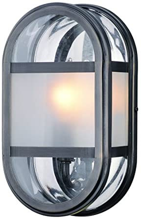 Troy Lighting B2281EB Boulevard - One Light Outdoor Small Wall Lantern, English Bronze Finish with Clear/Frosted Glass