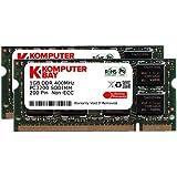 Komputerbay 2GB (2X1GB) DDR SODIMM (200 pin) 400Mhz PC3200 Laptop-Speicher