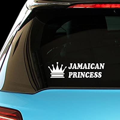 ShirtMania - JAMAICAN PRINCESS Girly Girl Car Laptop Wall Sticker