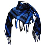 Premium Skull Pattern Shemagh Head Neck Scarf - Blue/Black