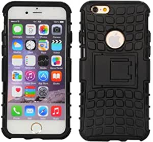 Fabson Back Cover for Apple iPhone 6 Plus Back Cover Hybrid Kick Stand Case - Black