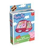 Peppa Pig 2-in-1 Double-Sided Travel Compact Snakes and Ladders/ Ludo Games