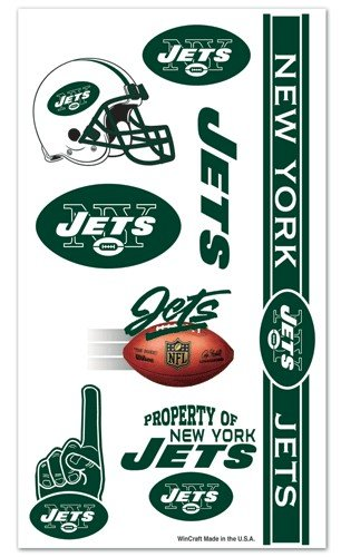 New York Jets NFL Temporary Tattoos (10 Tattoos)