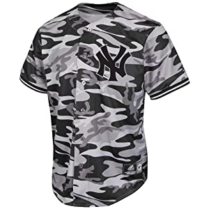 New York Yankees Majestic Camouflage Replica Jersey by Majestic