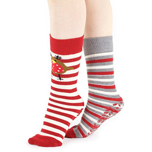 totes-ladies-2-pair-original-christmas-novelty-robin-and-striped-slipper-socks-with-grip-4-7-ladies-