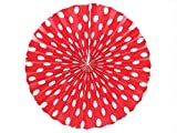 PrettyurParty Red Polka Dots Paper Fans