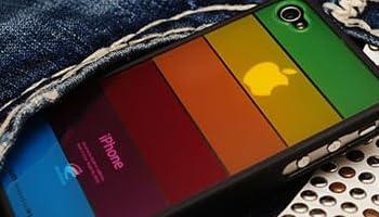 LIMS iPhone4 レインボー 保護ケース (ブラック)