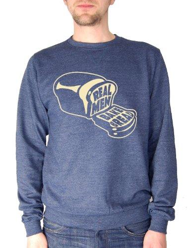 Balcony Shirts 'Real Men Bake Bread' Mens Sweatshirt - Navy - Small