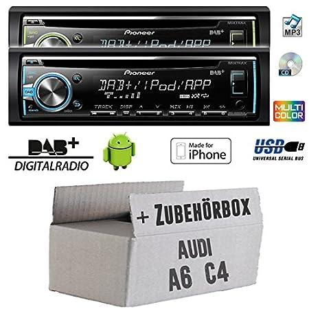 Audi A6 C4 - Pioneer DEH-X6800DAB - DAB CD/MP3/USB Autoradio - inkl. DAB Antenne - Einbauset