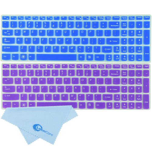 Leencore® 2-Pack Sweet Cute Lovely Baby Colorful Series Translucent Silicone Laptop Keyboard Skin Cover Protector For Ibm Lenovo Ideapad Z500 Z510 Z510P Z580 Z585 Z560 Z565 Z570 Z710 S510 S510P U510 U530 Y510P Y580 Y570 Y570D V570 P500 P580 N580 N585 B570 front-1003590