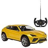 Rastar - Lamborghini Urus, coche teledirigido, escala 1:14, color amarillo (ColorBaby 75994)