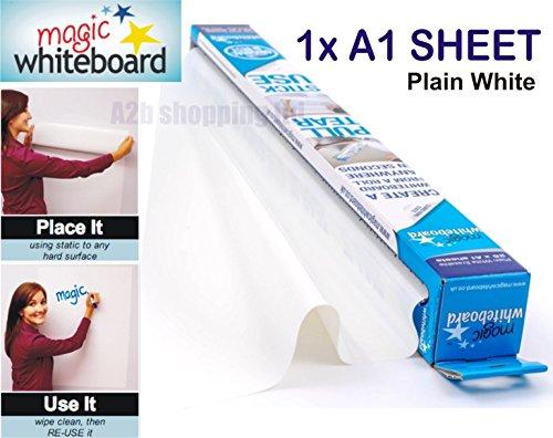 Magic Whiteboard Blatt A1weiß Dry, radierbar Papier Rolle Selbst Vinyl Stick 1x A1 Sheet weiß