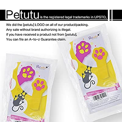 Cat Toys Interactive,LED Light Pointer,Pet Scratching Training Tool,Pack of 2(Yellow And Rosy Pink) By Petutu