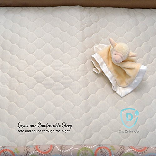 organic cotton waterproof pack 39 n play crib pad natural baby crib mattress cover and protector. Black Bedroom Furniture Sets. Home Design Ideas