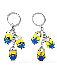 Minion Key Chain Pack Of 2 (2 Variant 1 Pc Each) Best Gift For Childrens, Teens, Key Holder, Key Chain, Tag, Luggage...