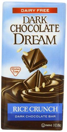 Dark Chocolate Dream Dark Chocolate Bar, Rice Crunch, 3 Ounce (Pack Of 12)