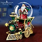 Thomas Kinkade Santa Claus Is Comin' To Town Musical Snowglobe Train Car by The Bradford Exchange