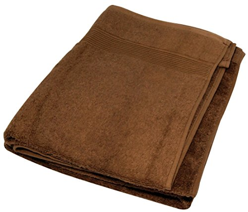 LCM Home Fashions 3-Piece Cotton Bath Towel Set, Chocolate (Lcm Home Fashions Inc compare prices)