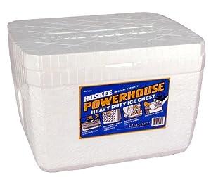 Lifoam 5328 Powerhouse Styrofoam Ice Chest, Huskee Collection, 28 quart