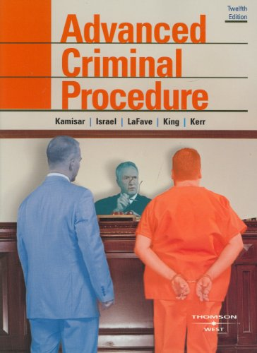 Advanced Criminal Procedure (The Adversary System):...