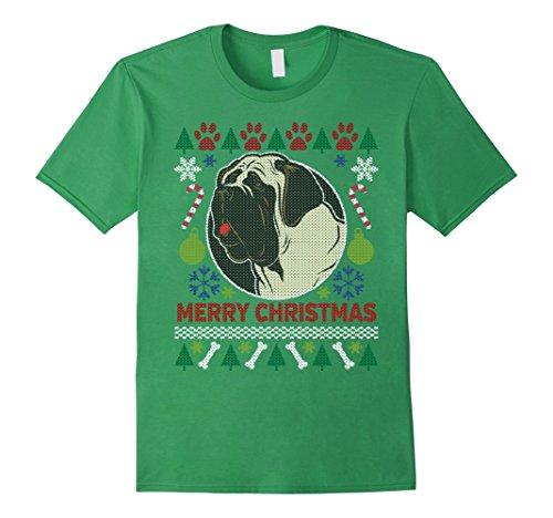 Men's Bull Mastiff Dog Breed Owners Ugly Christmas T-shirt