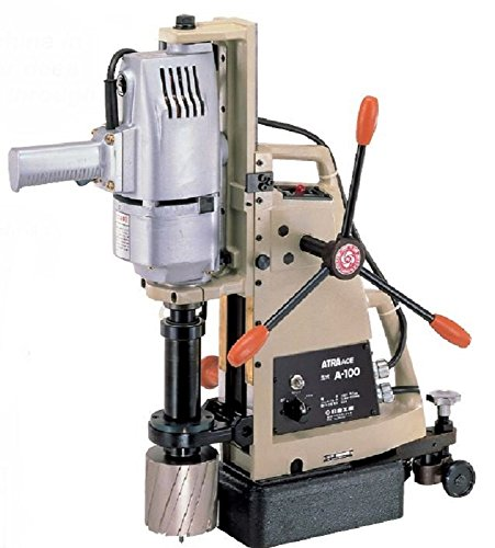 Nitto Kohki A-100 Atra Ace Manual Feed Magnetic Drill, Uses Jetbroach Carbide Tipped Annular Cutters, 4