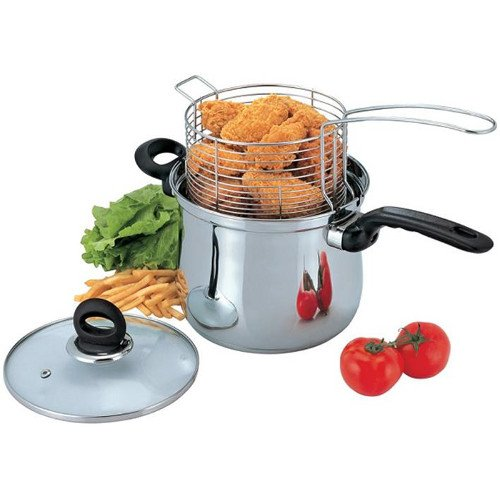 3 Pc 4 Qt Deep Fryer Set (Fry Pan 4 Quart compare prices)