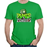 B&LAN Men's Plants Vs Zombies Toys & Action Figures T Shirts KellyGreen