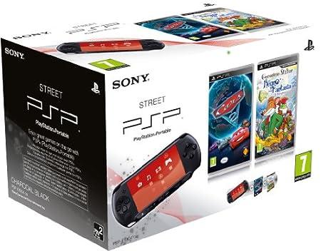 PSP - Console E1004 + Cars 2 + Geronimo Stilton [Bundle]
