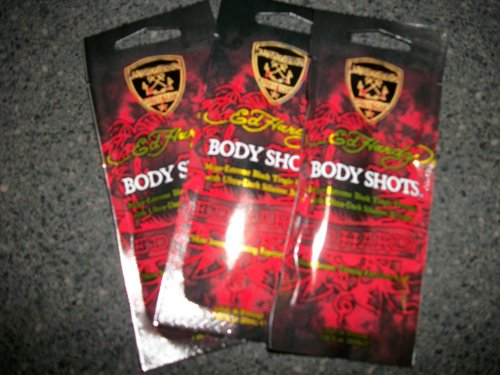 3 packets 2011 Ed Hardy Body Shots Mega Extreme Black Tingle