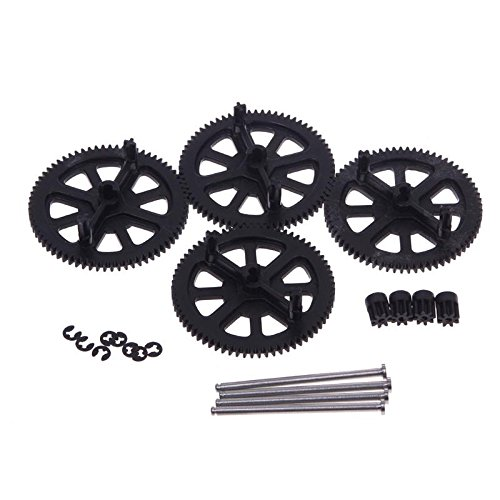 Partical Nice Black Motor Pinion Gear Set & Shaft Set For Parrot Ar Drone 2.0 Quadcopter