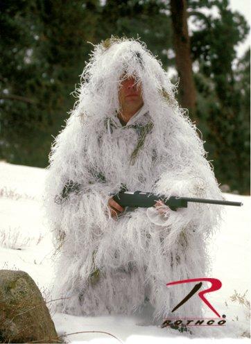 White Snow Bushrag Ultra Light Ghillie Suit Jacket & Pants Set