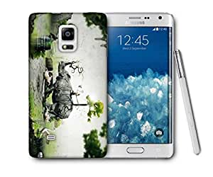 Snoogg Abstract Rhino Printed Protective Phone Back Case Cover For Samsung Galaxy NOTE EDGE