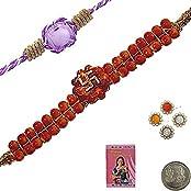 Indiangiftemporium Sending Traditional Raksha Bandhan Beads Rakhi Rakhi Raksha Bandhan Gift Band Moli Bracelet...
