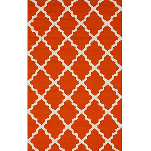 nuLOOM HJAIR10A Air Libre Collection Marrakech Trellis Indoor/Outdoor Contemporary Outdoor Hand Made Area Rug, 8-Feet by 10-Feet, Orange