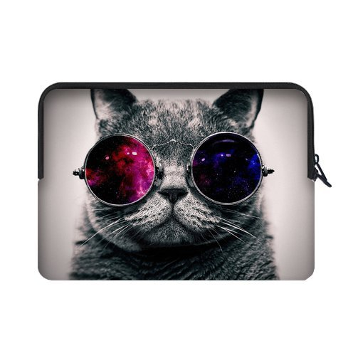 Cute Steampunk Cat,Sunglasses Cat 15.6-Inch(Twin Sides) Universal Laptop Sleeve Bag (Hp Steam 7 Cover compare prices)