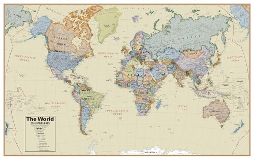 Round World Products Boardroom World Wall Map (World Map Round compare prices)