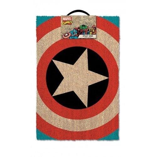 Captain America-Shield-Tappetino per ingresso, in fibra di cocco, colore: multicolore
